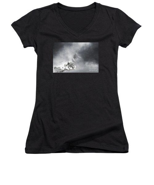 Women's V-Neck T-Shirt (Junior Cut) featuring the photograph Heaven For A Moment by Nick  Boren