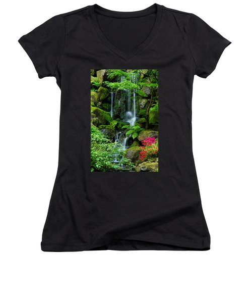 Heavenly Falls Serenity Women's V-Neck T-Shirt