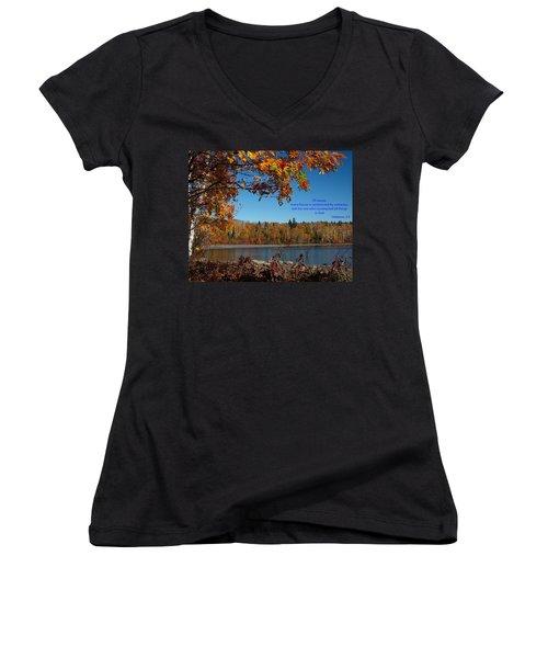 Hebrews 3 4 Women's V-Neck T-Shirt