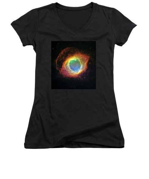 Helix Nebula 2 Women's V-Neck T-Shirt