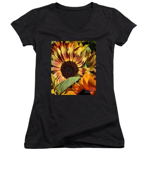 Here Comes The Sun Women's V-Neck T-Shirt (Junior Cut) by Robert McCubbin