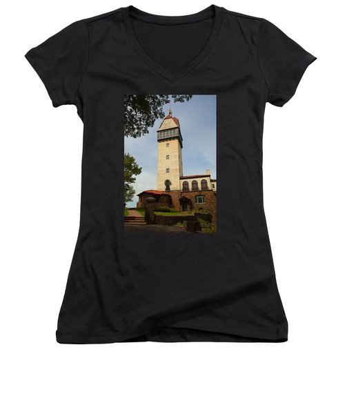 Heublein Tower Women's V-Neck T-Shirt