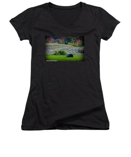 Hay Fall Women's V-Neck (Athletic Fit)