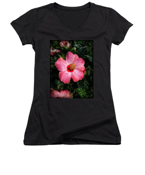 Hibiscus Sunset Women's V-Neck T-Shirt