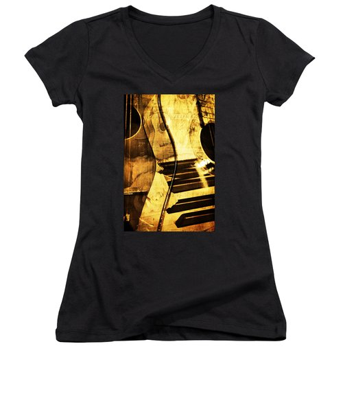 High On Music Women's V-Neck (Athletic Fit)