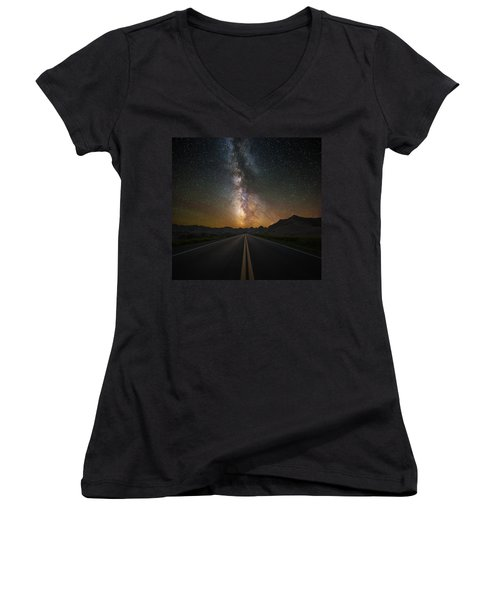 Highway To Heaven Women's V-Neck T-Shirt