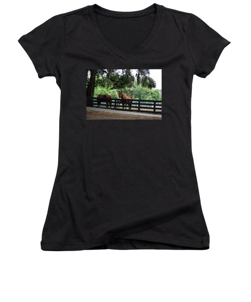 Hilton Head Island Beauty Women's V-Neck (Athletic Fit)