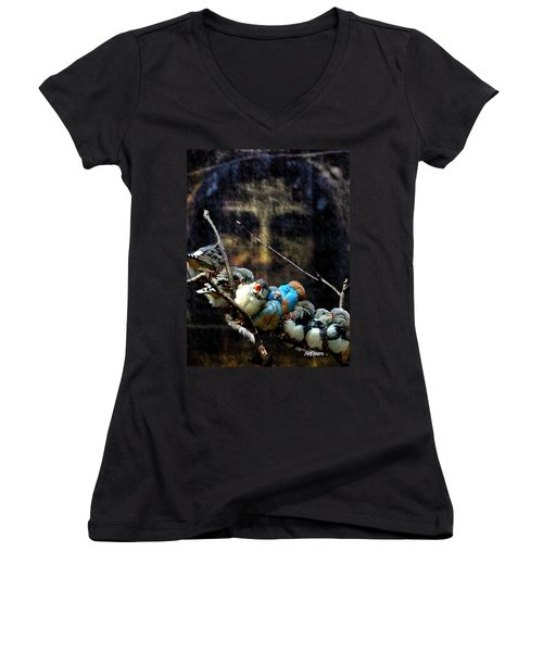 His Eye Is On The Sparrow Women's V-Neck (Athletic Fit)