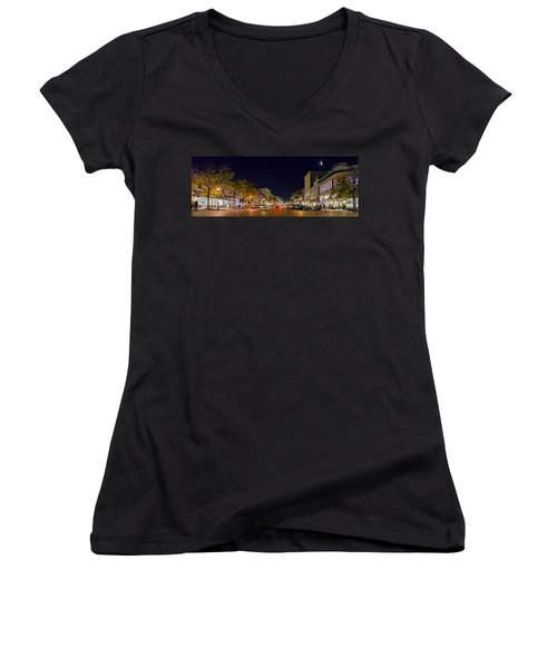 Historic Annapolis - Pano Women's V-Neck (Athletic Fit)