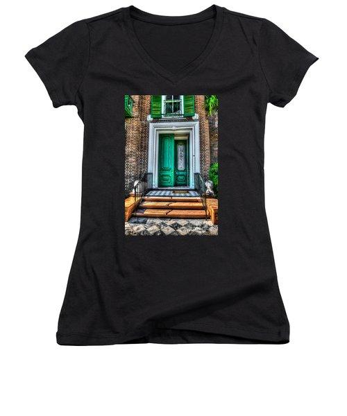 Historic Charleston Sc Door Women's V-Neck