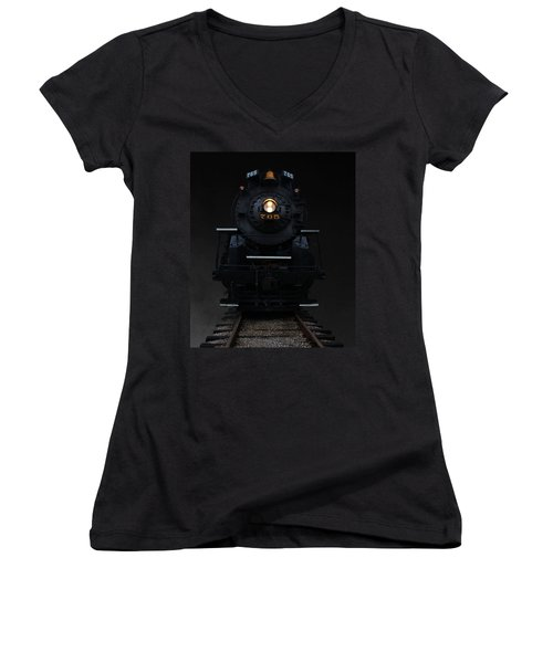 Historical 765 Steam Engine Women's V-Neck (Athletic Fit)