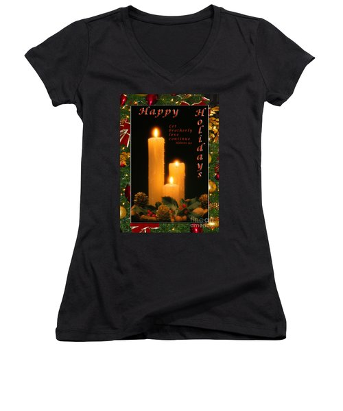 Holiday Love Declaration2 Women's V-Neck T-Shirt