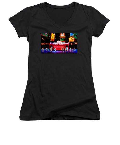 Holiday Sightseeing Women's V-Neck T-Shirt (Junior Cut) by Mike Martin