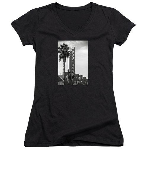 Hollywood Landmarks - Hollywood Theater Women's V-Neck T-Shirt