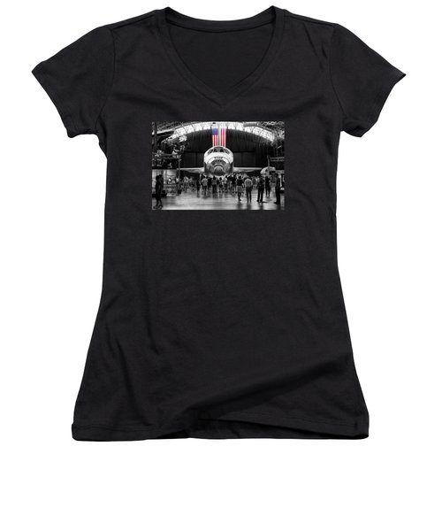 Women's V-Neck featuring the photograph Home At Last by Jim Thompson