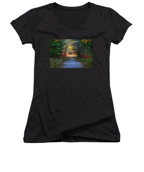 Women's V-Neck T-Shirt (Junior Cut) featuring the photograph Homeward Bound by Neal Eslinger