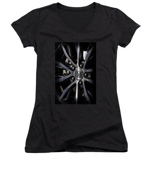 Honda Wheel Women's V-Neck T-Shirt