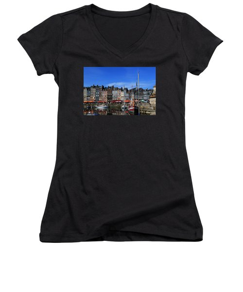 Honfleur France Women's V-Neck T-Shirt