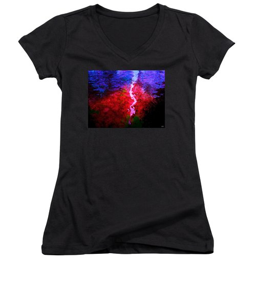 Hope For A Broken Heart - Healing Art Women's V-Neck T-Shirt (Junior Cut) by Absinthe Art By Michelle LeAnn Scott