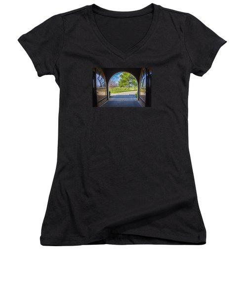 Horse Barn Women's V-Neck T-Shirt