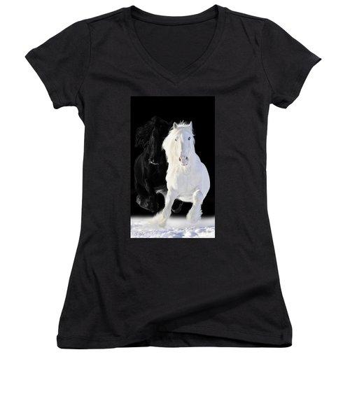Horses Women's V-Neck T-Shirt