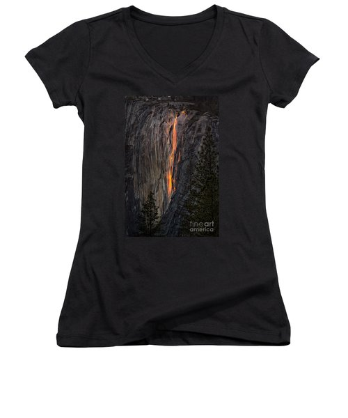 Horsetail Falls Women's V-Neck (Athletic Fit)