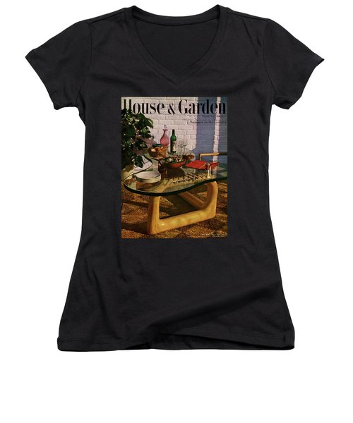 House And Garden Cover Featuring Brunch Women's V-Neck
