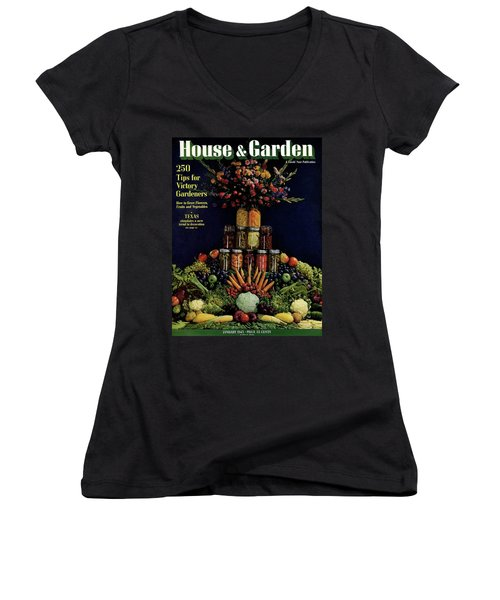 House And Garden Cover Featuring Fruit Women's V-Neck