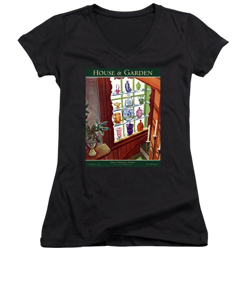 House And Garden House Planning Number Cover Women's V-Neck