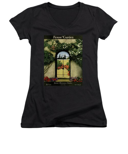 House And Garden Interior Decoration Number Women's V-Neck