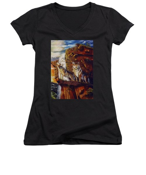 Howling For The Nightlife  Women's V-Neck