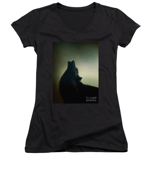 Howling Women's V-Neck (Athletic Fit)