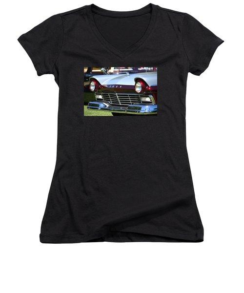 Women's V-Neck T-Shirt (Junior Cut) featuring the photograph Hr-11 by Dean Ferreira