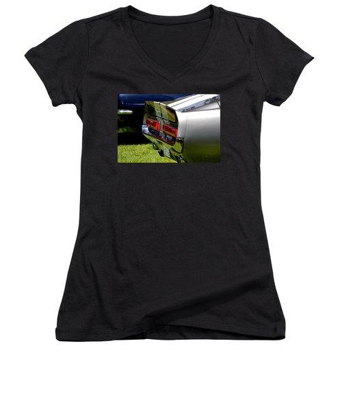 Women's V-Neck T-Shirt (Junior Cut) featuring the photograph Hr-24 by Dean Ferreira