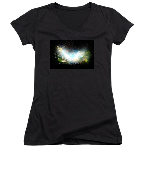 Hubble Birth Of A Galaxy Women's V-Neck T-Shirt