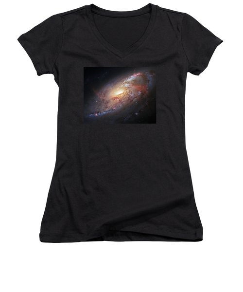Hubble View Of M 106 Women's V-Neck (Athletic Fit)