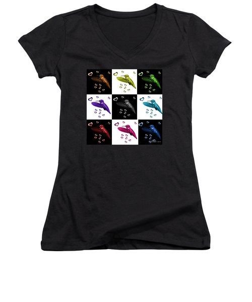 Hummingbird - 2055 F S M - V1 Women's V-Neck