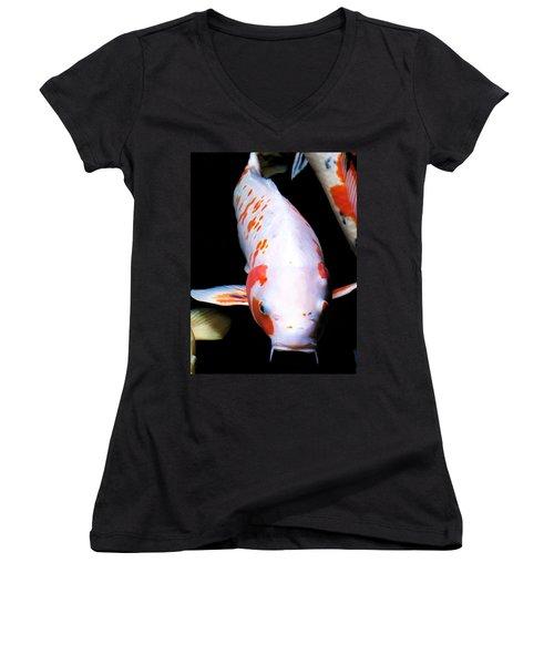 Women's V-Neck T-Shirt (Junior Cut) featuring the photograph Hyatt 13 by Dawn Eshelman