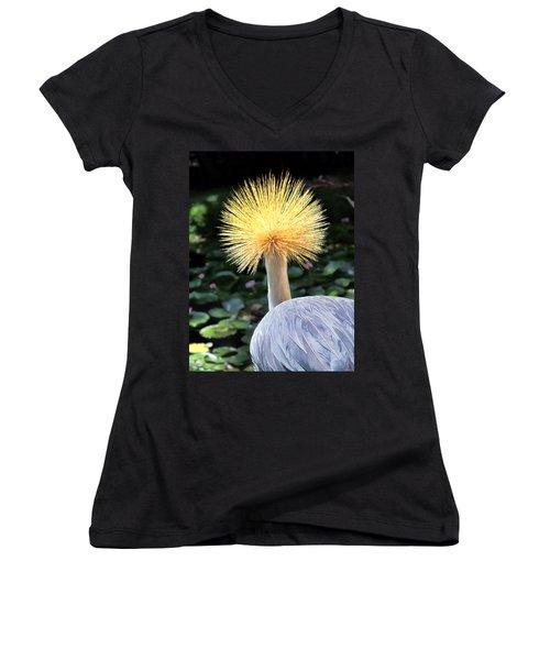 Women's V-Neck T-Shirt (Junior Cut) featuring the photograph Hyatt 22 by Dawn Eshelman