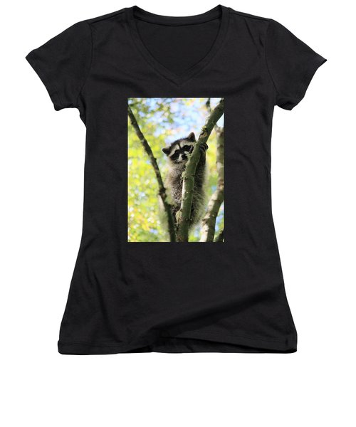 I Don't Want To Come Down Women's V-Neck T-Shirt (Junior Cut) by Kym Backland