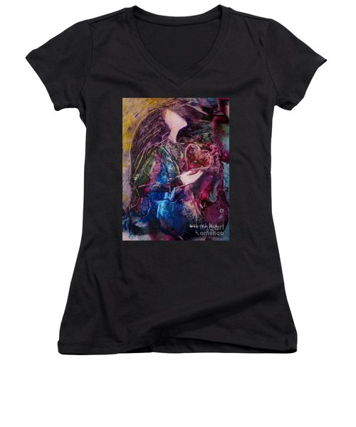 I Give You My Heart Women's V-Neck (Athletic Fit)
