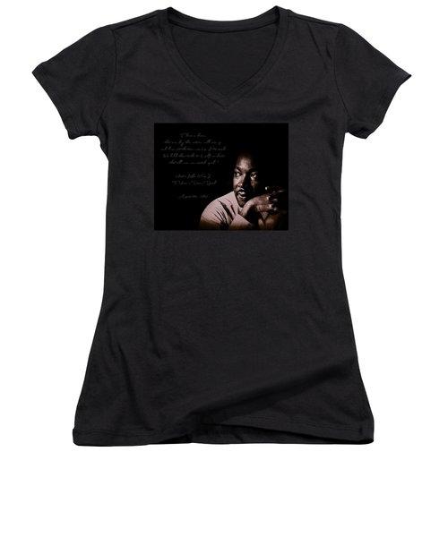 Women's V-Neck T-Shirt (Junior Cut) featuring the photograph I Have A Dream by Maciek Froncisz