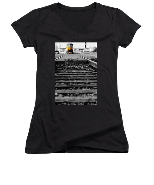 I Hear The Whistle Blowing Women's V-Neck T-Shirt