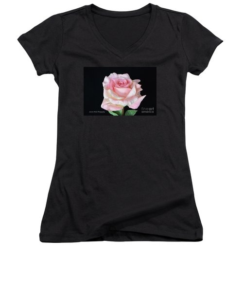 Women's V-Neck T-Shirt (Junior Cut) featuring the photograph I Love Us by Jeannie Rhode