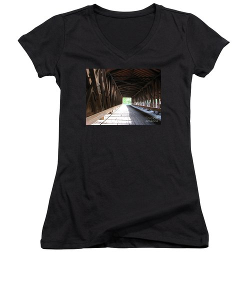 I See The Light Women's V-Neck T-Shirt (Junior Cut) by Michael Krek