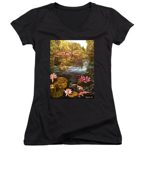 I Want To Be Where You Are Women's V-Neck T-Shirt (Junior Cut) by Belinda Low