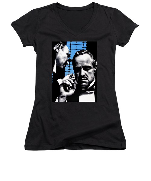 I Want You To Kill Him Women's V-Neck T-Shirt (Junior Cut) by Luis Ludzska