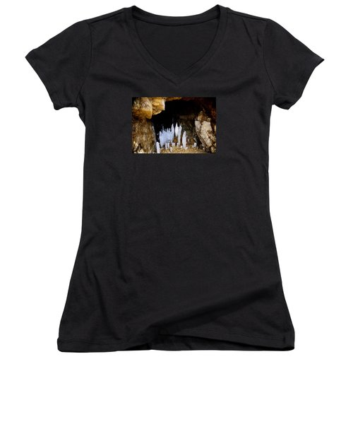 Ice In A Cave Women's V-Neck T-Shirt