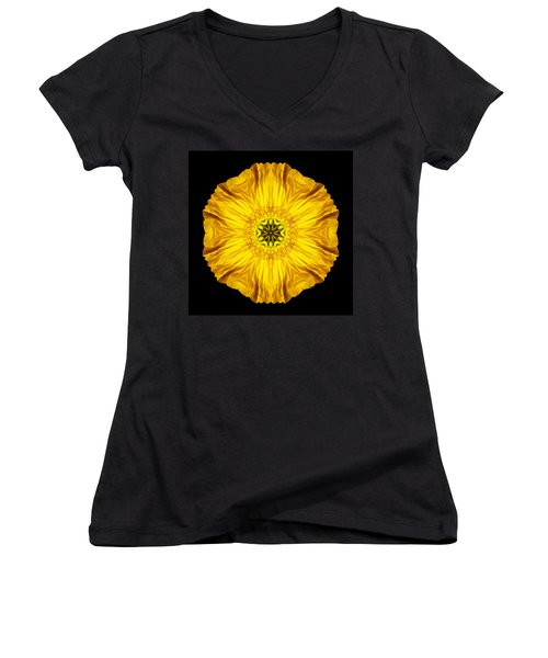 Iceland Poppy Flower Mandala Women's V-Neck (Athletic Fit)