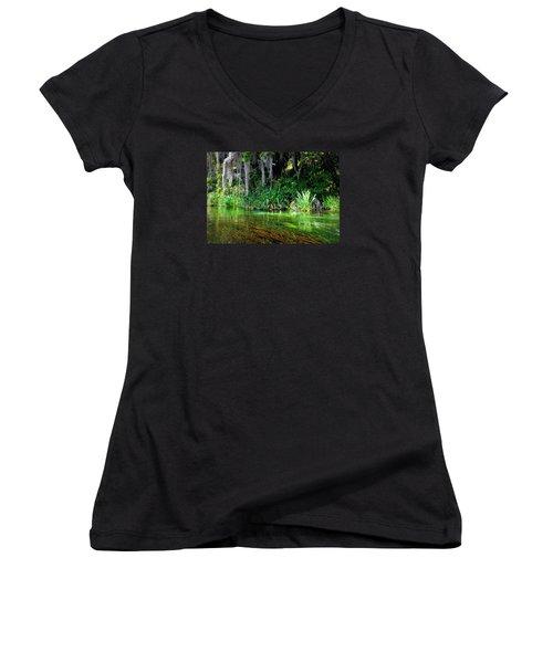 Ichetucknee Springs 1a Women's V-Neck T-Shirt
